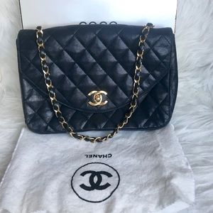 Authentic CHANEL LAMBSKIN CROSSBODY